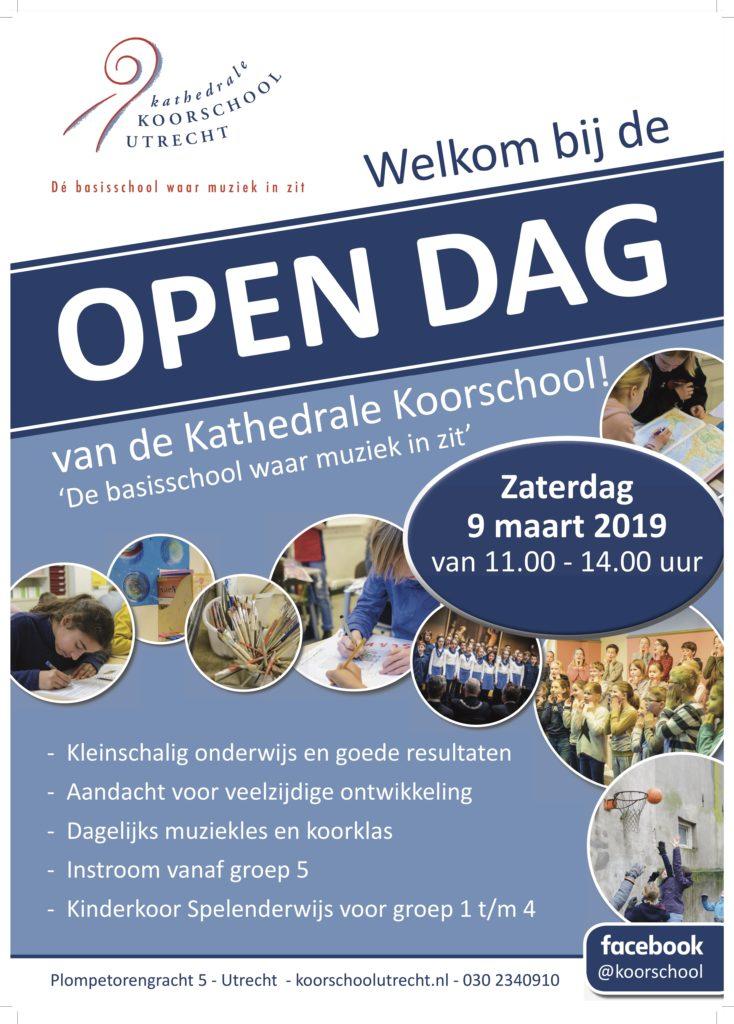 Poster open dag 9 maart 2019